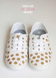 Look-a-Like Keds x Kate Spade NY Polka Dot Sneakers | Dream Green DIY