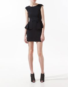 DRESS WITH FRILL AT THE WAIST - Dresses - Woman - ZARA Malaysia