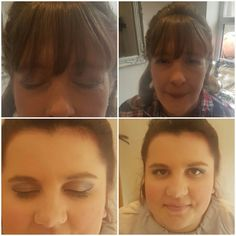 Wedding makeup from yesterday - Bride and bridesmaid