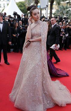 Fan Bingbing in Elie Saab at the Cannes Film Festival premiere of De Rouille et D'Os.