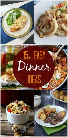 A roundup of 15+ easy dinner ideas on { lilluna.com }