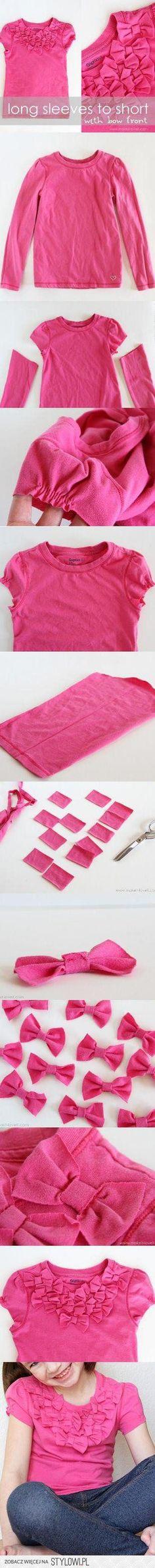 cute idea to reuse my tee for my girl