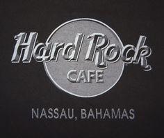Hard Rock Cafe T-Shirt Tee Nassau Bahamas Size XL Shades of Gray on Black