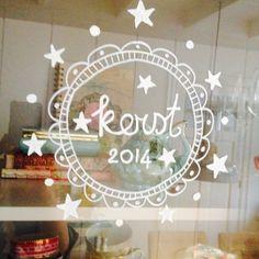 Window drawing Christmas/ raamtekening Kerst •Marije Zijderlaan-Daanen