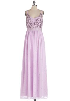 Elegant Enchantment Dress. As soon as the chandelier lights fall upon this orchid-purple dress, the attention of the whole room turns to you. #purple #modcloth