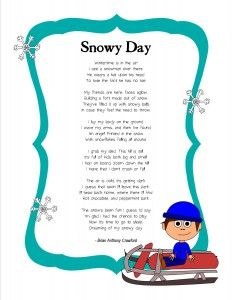 FREE winter poem and writing activity.