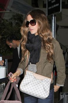Louis Vuitton Damier Azur Siracusa Bag~Style muse & outfit idea...LVOE this bag!