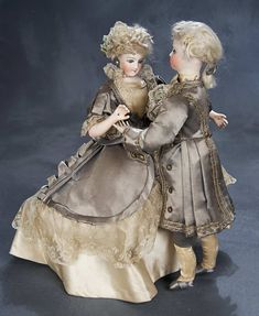 """Exquisite and All-Original French Automaton """"The Waltzing Couple"""" by Gustav Vichy"""