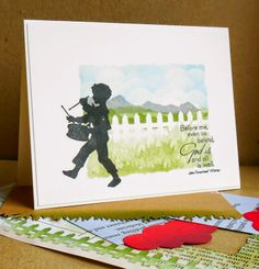 Sweet 'n Sassy Stamps: Fence Die (used as a stencil), Happy Happy set, Landscape Silhouettes set, God Is Set.
