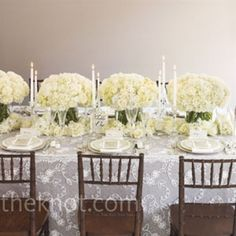 Neutral linen with lace overlay