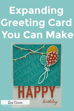 WooHoo! I've got an expanding greeting card you'll want to learn how to make! Need a card with plenty of space for lots of people to sign or space to write a longer message? This card design is a great go-to idea. Watch the tutorial at www.LisasStampStudio.com #cardmaking #cardmakingideas #expandingcard #expandablecards #birthdaycardideas #handmadebirthdaycards #lisacurcio #lisasstampstudio #stampinup #stampinupcards Card Making Tips, Card Making Supplies, Card Making Tutorials, Card Making Techniques, Handmade Birthday Cards, Birthday Greeting Cards, Greeting Cards Handmade, 21 Cards, Step Cards