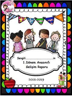 Kız-Erkek Öğrenci Gelişim Dosyası Kapağı (Renkli) - Okul Öncesi Etkinlik Faliyetleri - Madamteacher.com