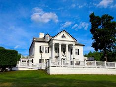 The Belvedere Mansion is a well-known historic estate/wedding and event destination in Staatsburg, NY which looms on a hill off of Route 9 between Rhinebeck and Hyde Park in the Hudson Valley. A bright white Greek Revival with grand pillars and ornate details, it's on the market for $3.97 million.