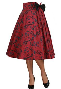 Pleated Bow Skirt by Amber Middaugh --Save 37% at Chicstar.com coupon: AMBER37 #Retro #Vintage #Rockabilly #1950s