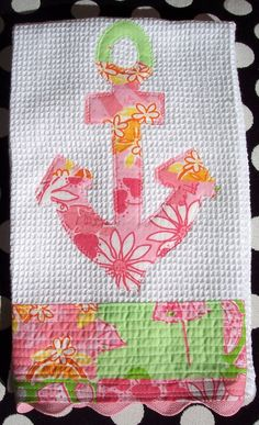 lilly pulitzer anchor towel