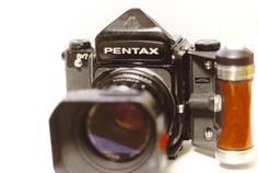 ASAHI PENTAX 6X7 In order to take a picture by the film by the camera, I had asked to repair the medium format camera which is old Pentax camera in Camera Service Kagoshima Co.,Ltd. My Camera was old and ragged, but he had come home yesterday become a tool that can be practical and become strong.