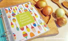 Free Personalized Recipe Book Printable - Pretty My Party #free #recipe #book #printable