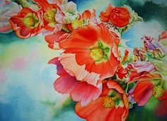 Desert Mallow by Laurie Asahara Watercolor ~ 22 x 30