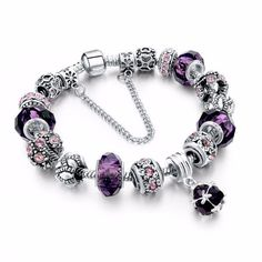 European style Tibetan bracelet with crystal charm (Multiple Colors Available)