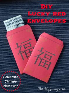 Celebrate Chinese New Year with these DIY Lucky Red Envelopes. We have a printable template to make it easy!
