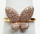 Unique Diamond Butterfly Ring at Aquamarine Jewelers