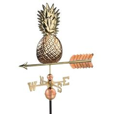 Good Directions Polished Copper Pineapple Weathervane-9635P - The Home Depot