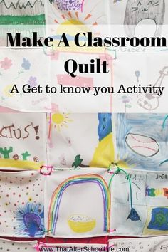 Display the interests and hobbies of the children in your classroom by creating a one of a kind quilt. Grab some markers and a quilt kit to get started! Get To Know You Activities, Back To School Activities, Activities For Kids, After School, School Fun, School Life, School Stuff, Fun Arts And Crafts, Kid Crafts