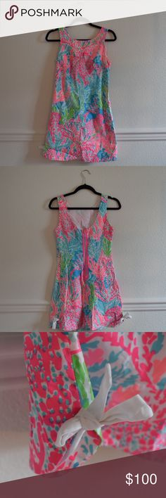 Lilly Pulitzer Print Shift Dress • Size 0 EUC • size 0 • 100% cotton • fully lined Lilly Pulitzer Dresses Mini