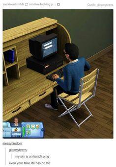 Sim is on tumblr, tumblr funny