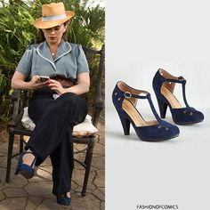 Graham Street Shoe Co. 'The Zest for History' Heel in Navy