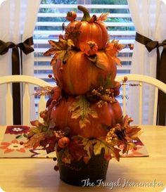 DIY Pumpkin Topiary - The Frugal Homemaker