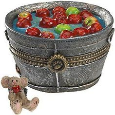 Boyds Bears Treasure Box  Granny Smiths Apple Bobbin Bucket with Macintosh McNibble *** Be sure to check out this awesome product.