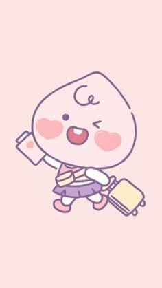 Peach Wallpaper, Kawaii Wallpaper, Wallpaper Iphone Cute, Photo Wallpaper, Apeach Kakao, Cute Easy Drawings, Kakao Friends, Friends Wallpaper, Line Friends
