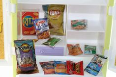 Miniature food bags of chips doll house size veggies by AbateArts, $5.00 Mini Things, Small Things, Clay Miniatures, Dollhouse Miniatures, Doll Food, Tiny Food, Chip Bags, Barbie Stuff, Miniture Things
