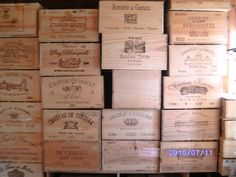 Hundreds of reclaimed wooden wine boxes - what could you do with these?