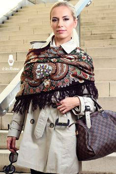 Russisches Tuch / Russischer Schal / Russian scarf / foulard russe / Le châle russe / scialle russo / Pañuelo, Chalina Rusa / Pañuelo, Chal Tradicional Ruso