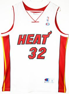 Vintage champion NBA basketball Miami Heat #32 Shaquille O'Neal O'Neal…