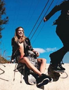 """LA Skaters"" by David Burton Skateboard Mode, Skateboard Fashion, Skate Fashion, Bmx Girl, Skate Girl, Surfergirl Style, David Burton, Skater Girl Style, Alfred Stieglitz"