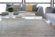 Perfect combination for my livingroom !  Linie design asko mixed (rug) and Hay Tray (coffeetable)