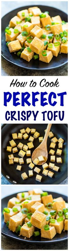 CRISPY Tofu the EASY way! No baking, pressing, or frying required. Use this trick to cook tofu that comes out perfectly every time. Great for any of your favorite stir fries, dipping sauces, and even salad! @wellplated