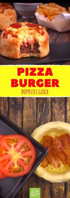 Mit unserem #Pizzaburger holst du dir das beste aus beiden Welten auf den Teller! #hamburger #pizza #rezepte #rezepte