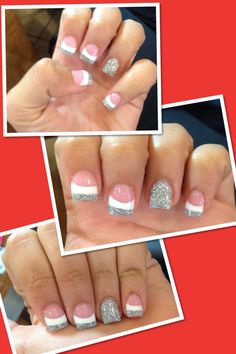 Permanent french tip nails