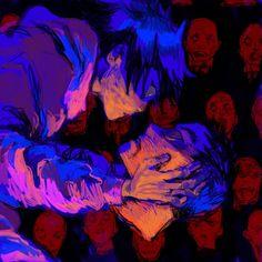 Manga Art, Anime Art, Estilo Anime, Arte Horror, Creepy Art, Psychedelic Art, Aesthetic Art, Cool Drawings, Art Sketches