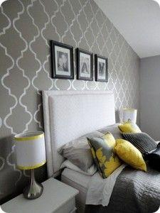 Gray & Yellow Bedroom Inspiration