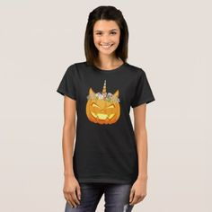 #Unicorn Pumpkin Halloween - Pumpicorn T-Shirt - #Halloween happy halloween #festival #party #holiday