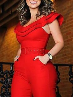Shop Rompers Layered Ruffle Split Slinky Romper With Belt Trend Fashion, Fashion Tips, Style Fashion, Woman Fashion, Ladies Fashion, Fashion Styles, Fashion Ideas, Split Legs, Vetement Fashion
