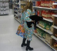 This woman who casually took her cat for a late night run to get a jumbo pack of Cheetos. | 23 Cat People Who Need To Be Stopped