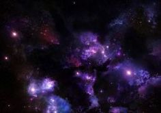 outer space multicolor stars planets cosmic dust