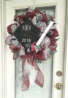 Graduation Wreath for Central High School by Jayne's Wreath Designs on fb and Instagram