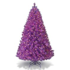 PURPLE GLITTER CHRISTMAS TREE YES PLEASE!!!!    Funky Artificial Christmas Trees in Vibrant Colors | Shelterness